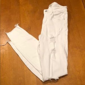 PacSun Distressed White Cut-Off Jeans